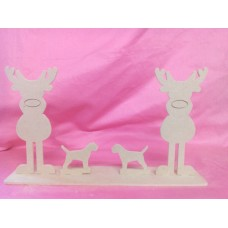 4mm MDF reindeer family design 3